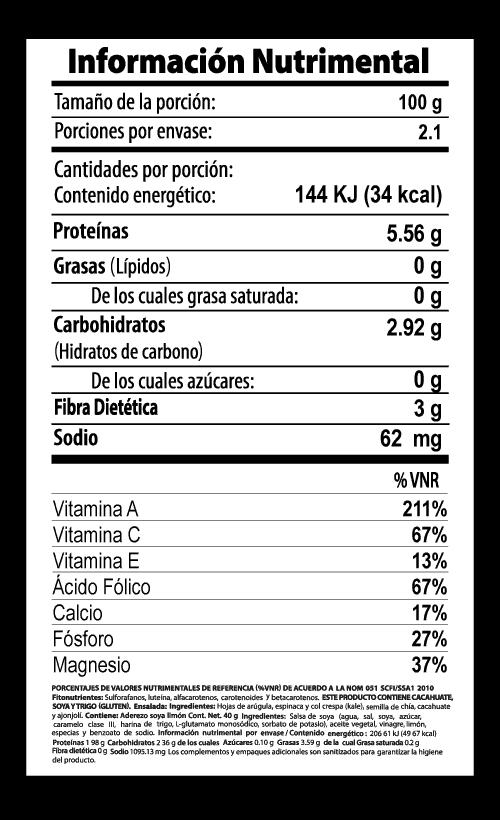 antioxidante ensalada vegetalistos tabla