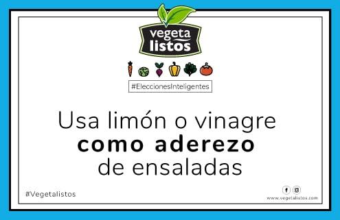 Mar21 18 Usa limón o vinagre como aderezo de ensaladas