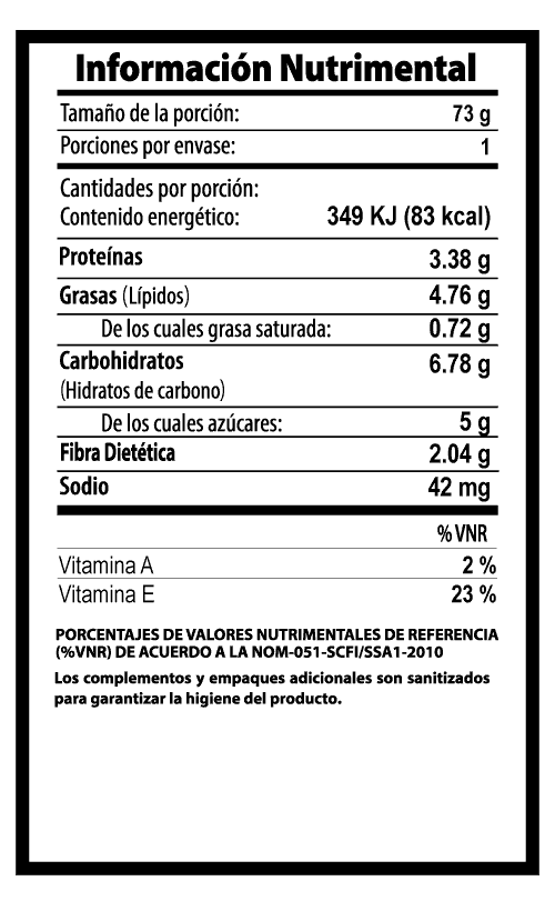 apio vegibite tabla nutrimental vegetalistos