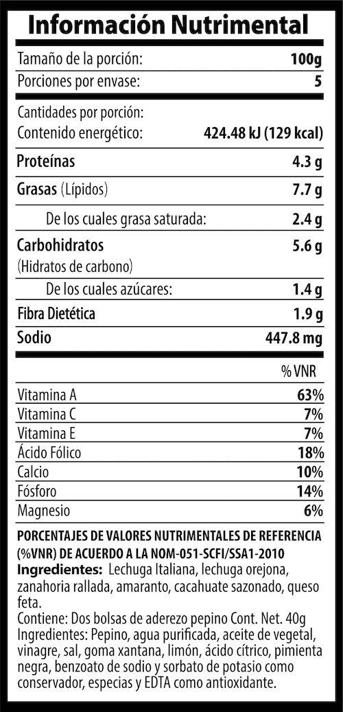 Tabla Nutrimental Fitness-TwinPack